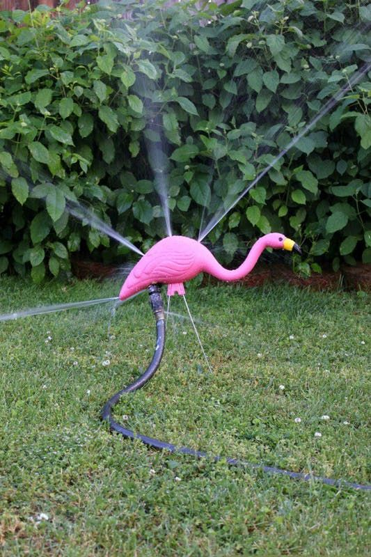 Check out these seven hilarious DIY projects that hack pink plastic flamingos into something else entirely.