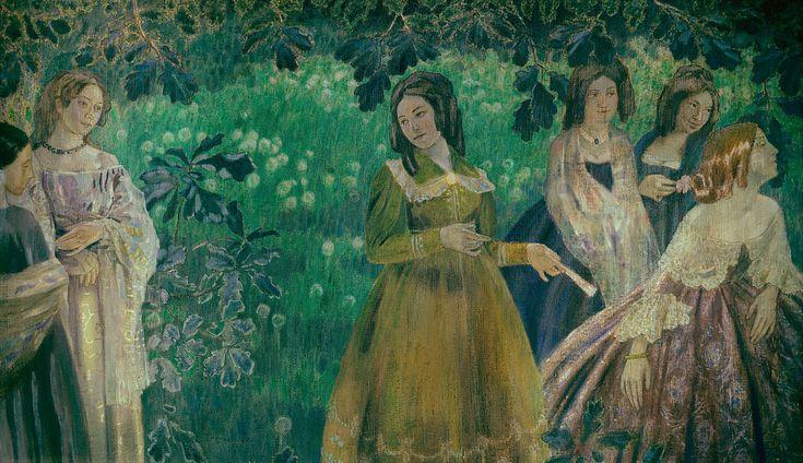 Victor Borisov-Musatov (1870-1905)Изумрудное Ожерелье, 1903-1904.jpg