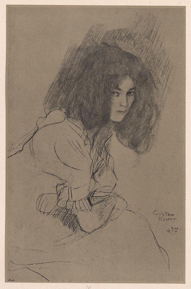 Gustav Klimt, drawing from Ver Sacrum.