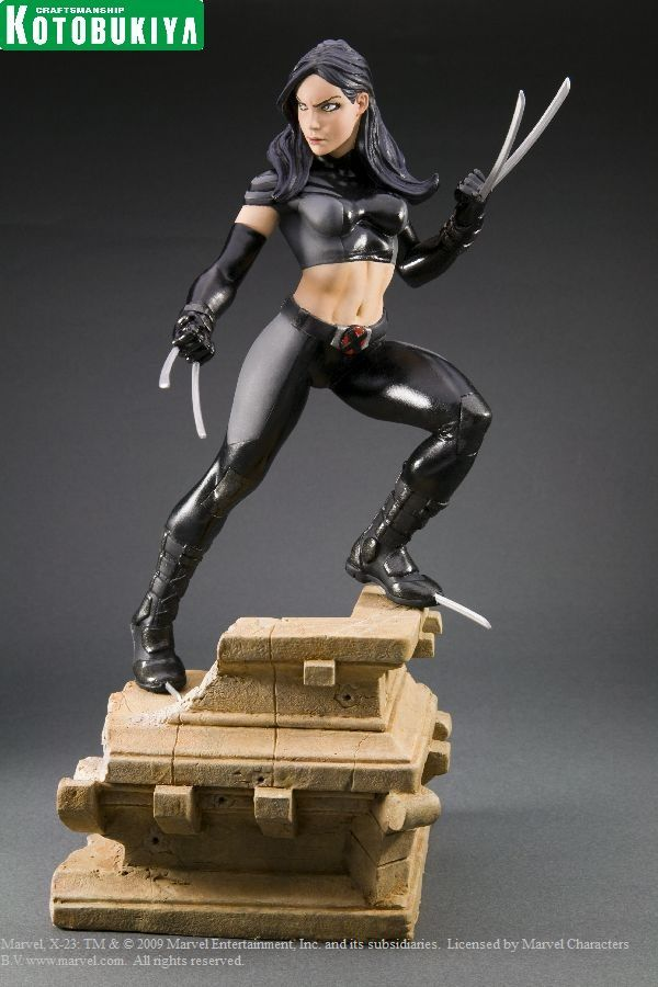 MARVEL COMICS PRESENTS KOTOBUKIYA COLLECTION X-FORCE X-23 FINE ART STATUE  http://store.kotous.com/marvel-comics-presents-kotobukiya-collectionx-force-x-23-fine-art-statue.html