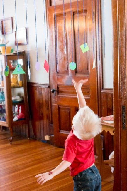 Jump and grab the matching shapes for preschoolers :: shape activities :: active math games
