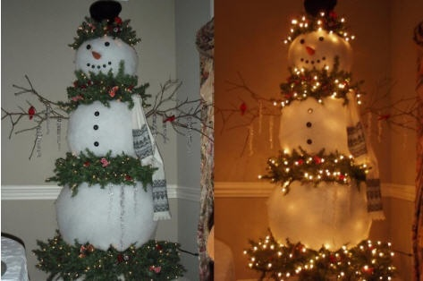 100 best winter entertaining recipes images by Carolyn #1: 5aa85f44b d671aa081bfb7ad3e5 snowman tree christmas snowman