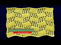 Tilted Blocks Lace - YouTube