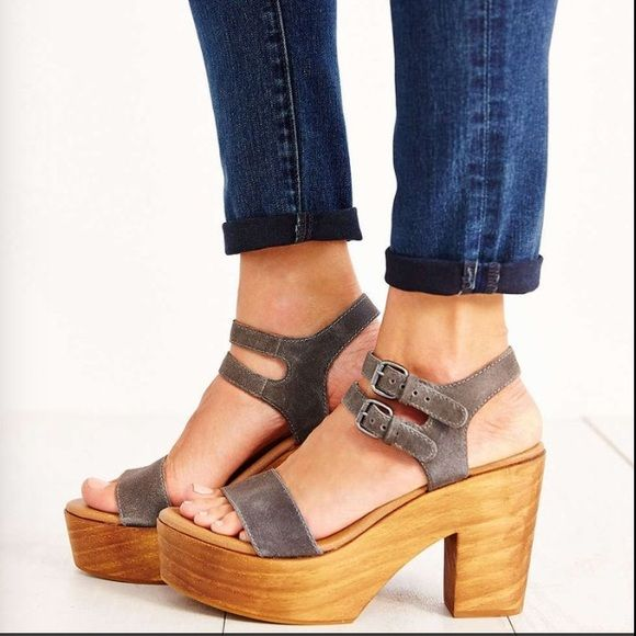 """IN SEARCH OF Kelsi Dagger Brooklyn Sky Heel Help meeeee! I am obsessed w this heel. I am partial to the mocha/taupe color as seen above. Online, I have seen it listed as """"blue"""" and """"denim."""" I really really want these in an 8! If you see a pair, tag me please! Also, if you wear a 9.5-10.5- these are on sale at Nordstrom for <$30! Deal! Kelsi Dagger Shoes"""