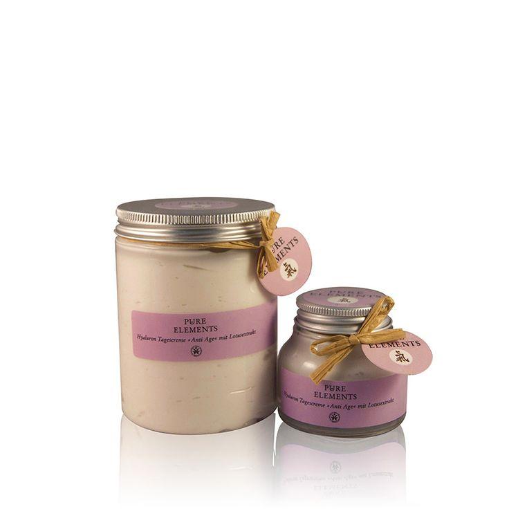 Pure Elements Hyaluron Dagcrème Anti-age salon- en verkoopverpakking voor salonhouders  http://www.purelements.nl/beautysalonsretail/