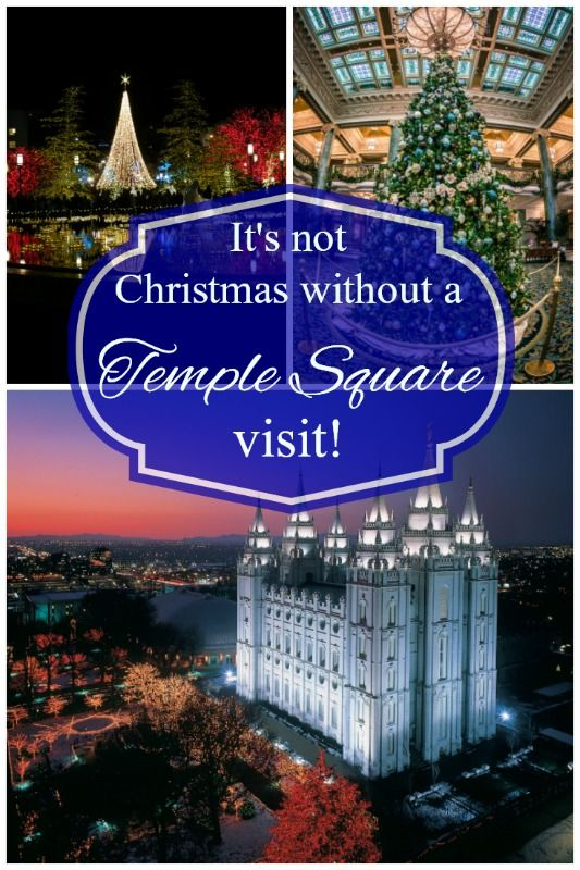 If you're in Salt Lake City, Utah, it's just not Christmas without a visit to iconic Temple Square! #templesquare #saltlakecity #christmas
