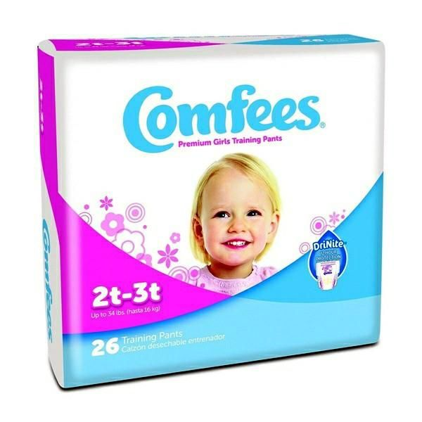 Toddler Training Pants Comfees Pull On 4T - 5T Disposable Size 4T-5T Attends Comfees Youth Training Pants Diaper from PRO2 Medical is Perfume and Latex Free wit