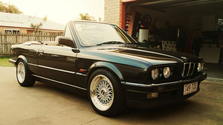 Bmw e30 convertible cabriolet. 1988 year model Australia. BBS wheels.