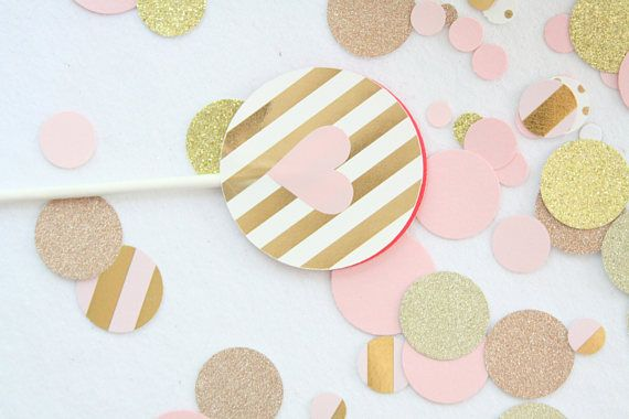 25 best ideas about gold confetti on pinterest balloon for Baby confetti decoration