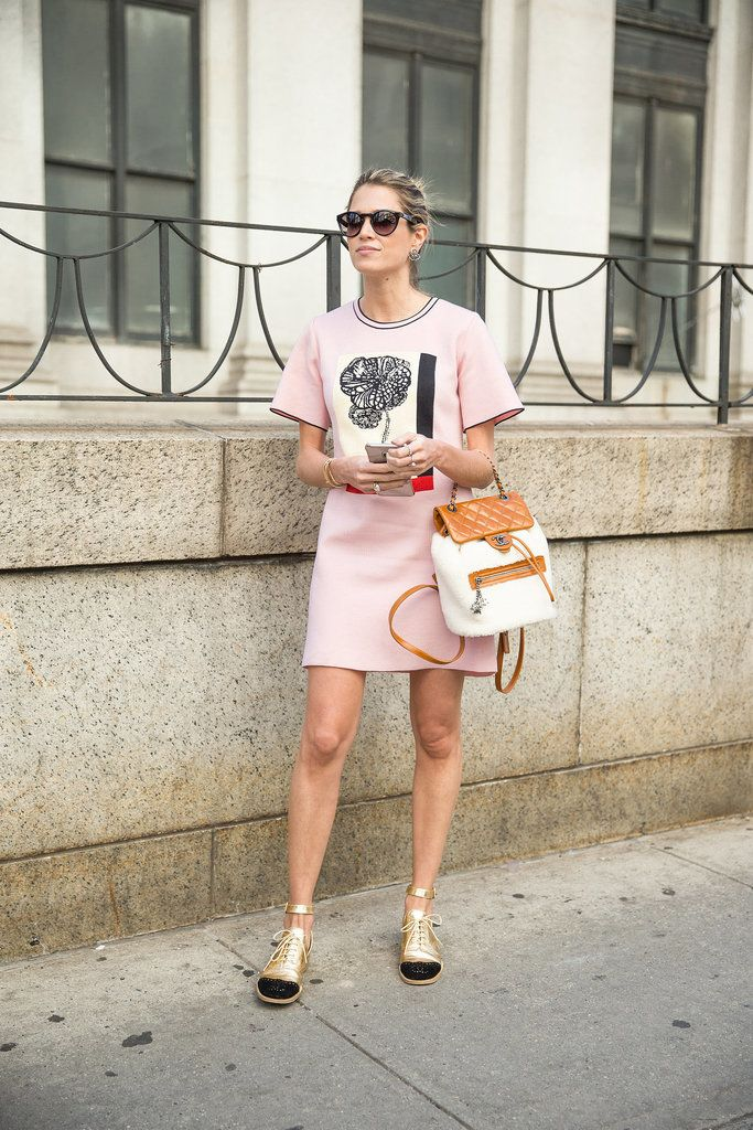 A Sheath Dress, Lace-Ups, and a Backpack For When You're on the Move