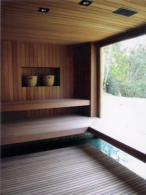 */Minimal Sauna...of course I'll have a house with one of these someday! ;-)