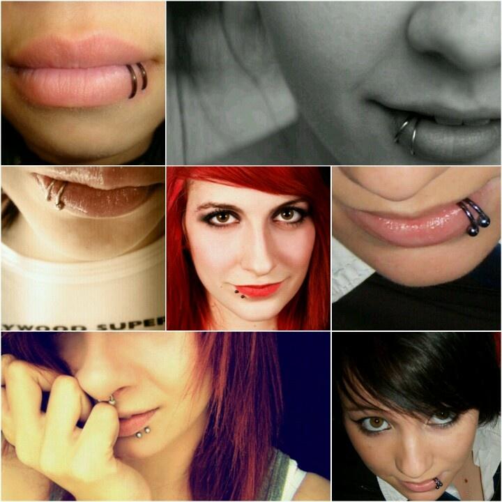 Viper bites! I feel like the bigger the lips,  the better the peircings look lol.