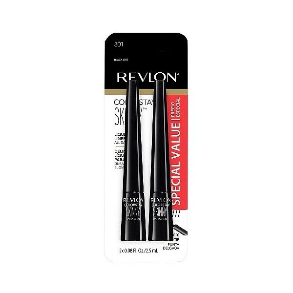 Revlon ColorStay Skinny Liquid Liner ($9.99) ❤ liked on Polyvore featuring beauty products, makeup, eye makeup, eyeliner, black, liquid eyeliner, liquid eye liner, revlon, liquid eye-liner and revlon eyeliner