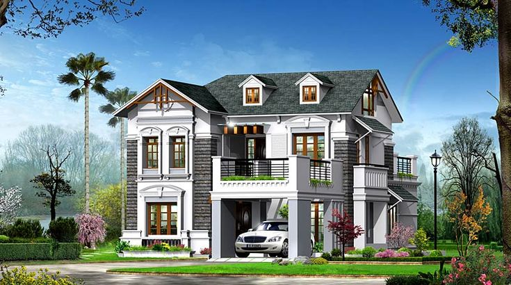 Check out this #victotianmodelhome.#2500sqft #4bedrooms and lot more http://www.kmhp.in/design/victorian-type-home-elevation/