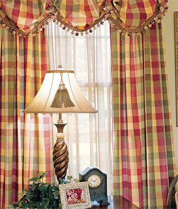 images of draperies   Example....plaid curtains from Country Curtains .