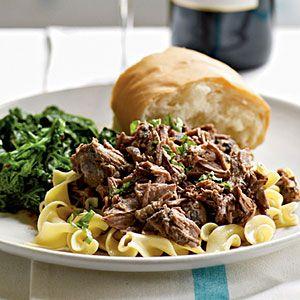 Zinfandel-Braised Leg of Lamb   slow cooker   MyRecipes.com