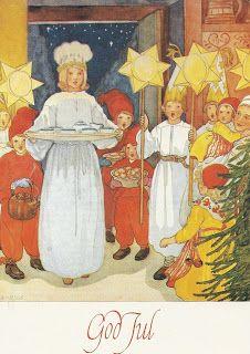My little postcard blog: Lucia Card - Drawn by  Aina Stenberg