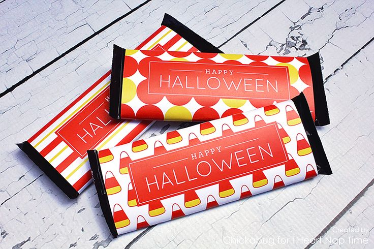 Halloween candy bar wrappers - I Heart Nap Time