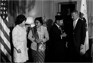 Soeharto With US Ambassador