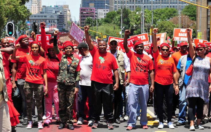 The Economic Freedom Fighters // The Rise of South Africa's Radical Voice.  Photo: Neil McCartney