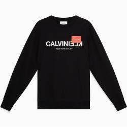 Sweatshirt Calvin Klein Sweatshirt Mit Kapuze Und Maxi-logo Calvin KleinCalvin Klein