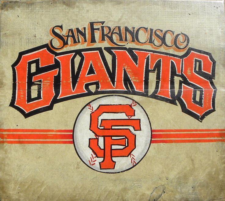 San Francisco Giants baseball Sign