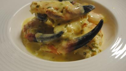 Pinces de crabe de Liscannor à l'Irish Cream