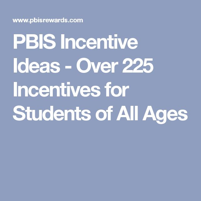 PBIS Incentive Ideas - Over 225 Incentives for Students of All Ages