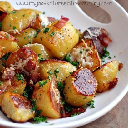 Pastırmalı Fırınlanmış Patates