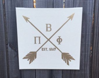 Pi Beta Phi Hipster Arrow Canvas - Square