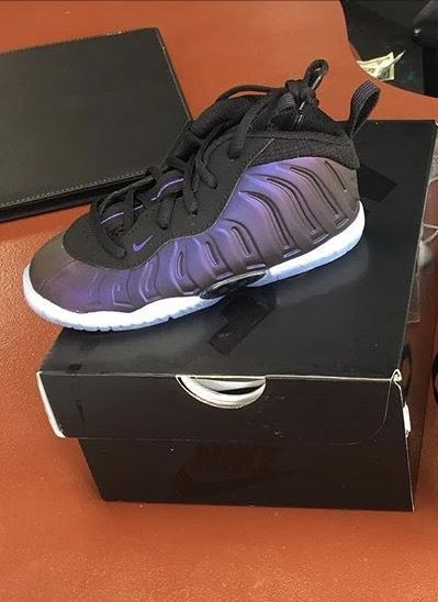 sports shoes 60caf c68f9 ... Nike little foamposite pro eggplant purple toddler preschool gs nike  Pinterest Nike, Shoes and Foam ...