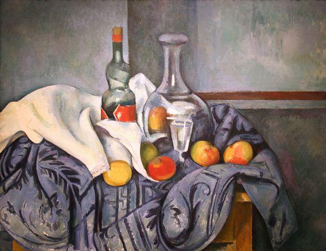 Still Life...The Peppermint Bottle by Paul Cézanne