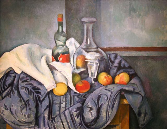 Still Life...The Peppermint Bottle by Paul Cézanne