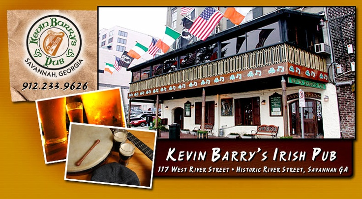 Kevin Barry's Pub is located in Beautiful Historic Savannah, Georgia