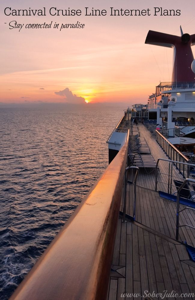Carnival Cruise Line Internet Plans by soberjulie ~ news all travellers will love when planning their cruise vacation
