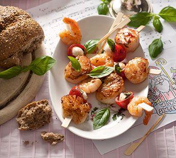 Kipfilet-garnalenspiesje Gourmetrecept - Recept - Jumbo Supermarkten