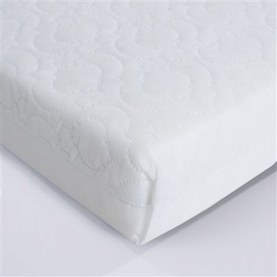 This super comfy fully sprung baby cot mattress will give you and your little one a perfect nights sleep. The long-lasting springs inside this baby mattress make for a comfortable base for your child and the soft cover zips off easily for washing.