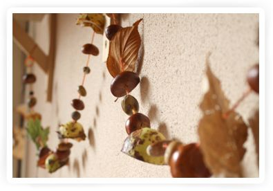 herfstslinger: of met eikels en kastanjes