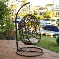 want this for the family room or maybe the kids' space in the basement.: Outdoor Wicker, Chairs Swings, Outdoor Chairs, Swing Chairs, Swings Chairs, Eggs Outdoor, Swings Eggs, Wicker Chairs, Outdoor Swings