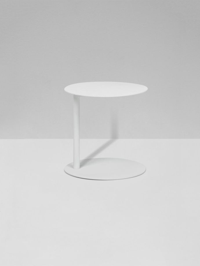 Aperto Ali Round Side Table White Side Table White Side