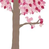 Een behangdier, behangboom of behang voor elke babykamer of kinderkamer  75 euro, ook dieren