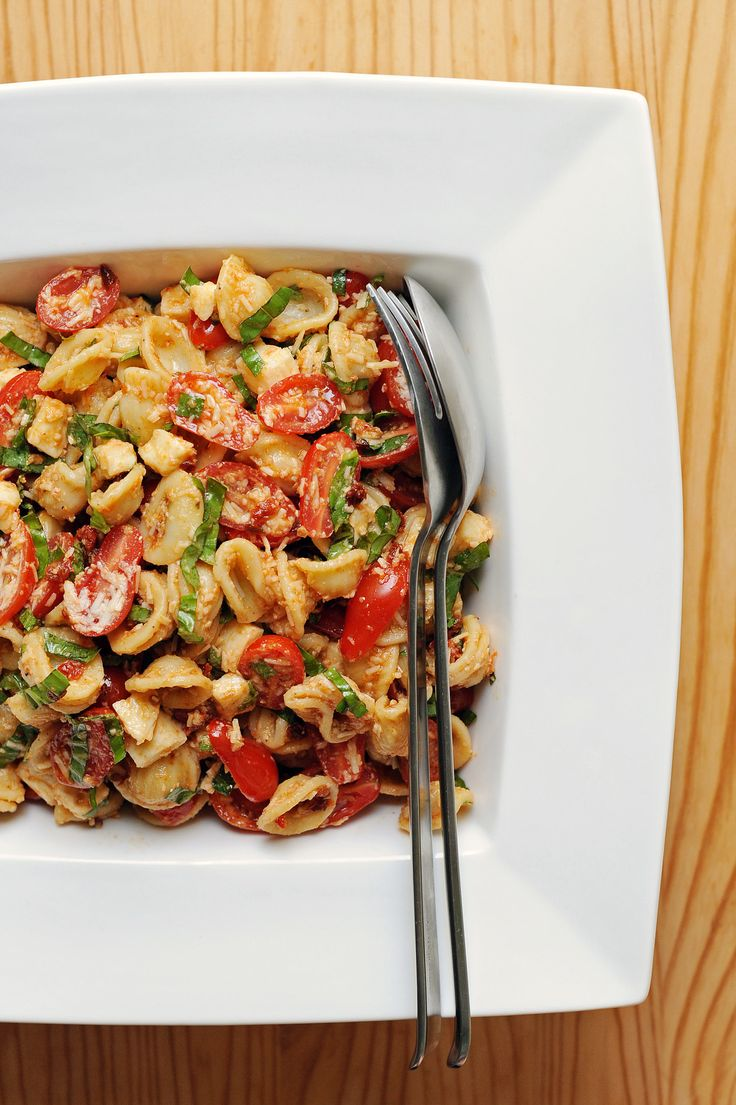 The next time you attend a potluck, consider making this modern spin on a retro favorite: pasta salad. Portable, easy to make in large batches, not terribly temperature sensitive, and, most importantly, tasty, it's a guaranteed crowd-pleaser. Make it with gluten-free pasta (we love chickpea or red lentil pasta since it's high in protein).
