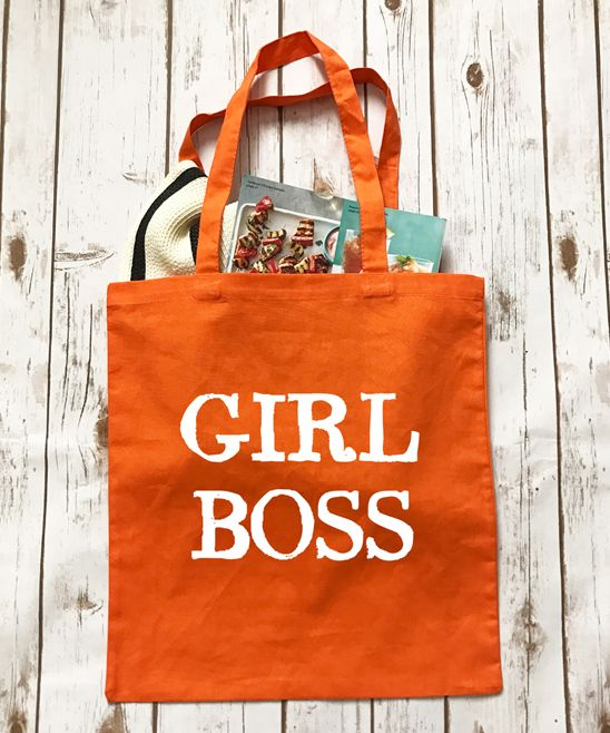 Orange 'Girl Boss' Tote