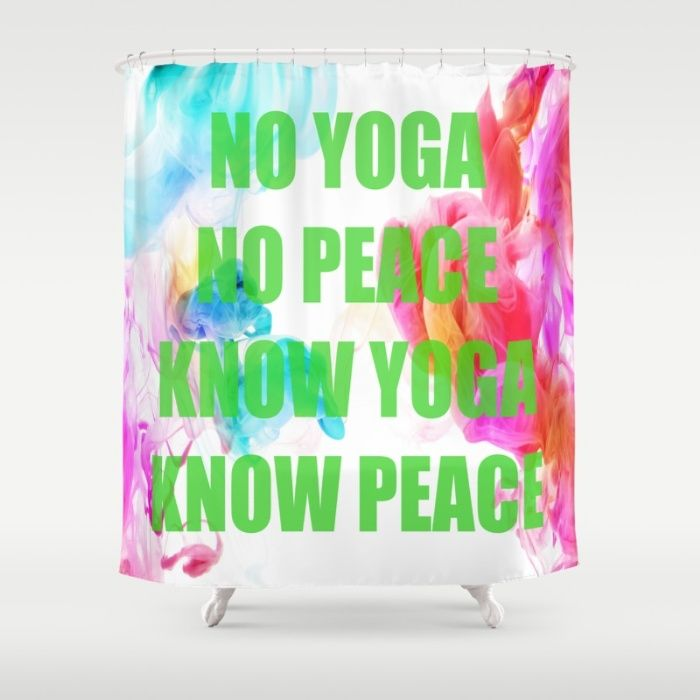 Peace Yoga @society6 #society6promo #society6 #society6artists #society6art  Shower Curtain