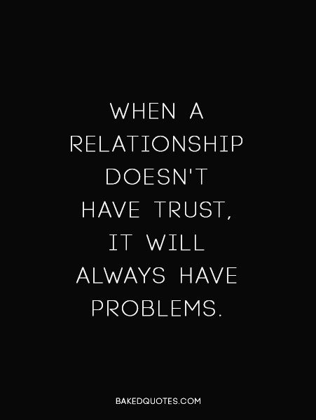relationship problems trusting your partner