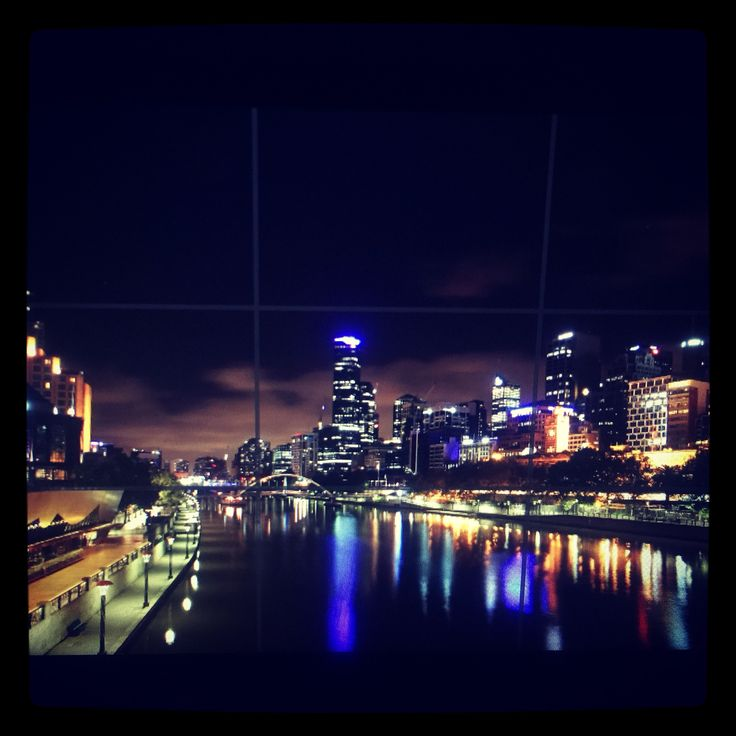 Nightscape of yarra river