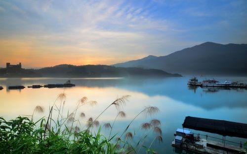 Tóparti köd, Köd,tó,part,víz,hajó,csónak,hegység