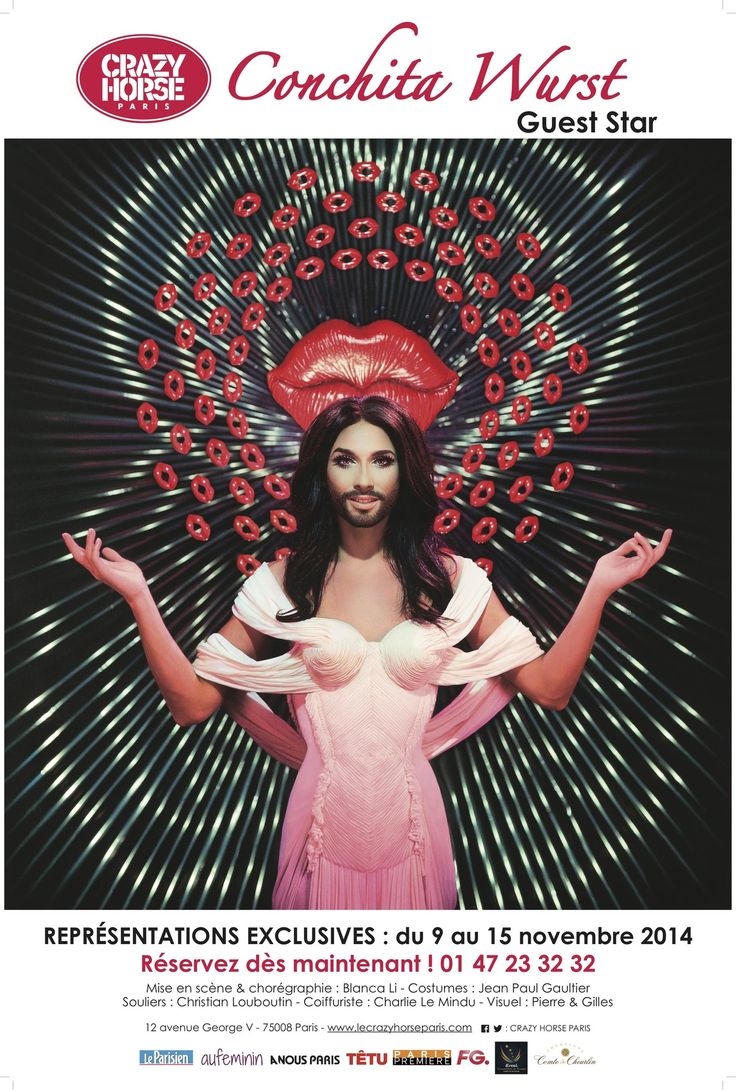 Conchita wurst and dana international in eurovision first star - Conchita Wurst Est Elle Devenue Une Crazy Horse Girl Le Fashion Post