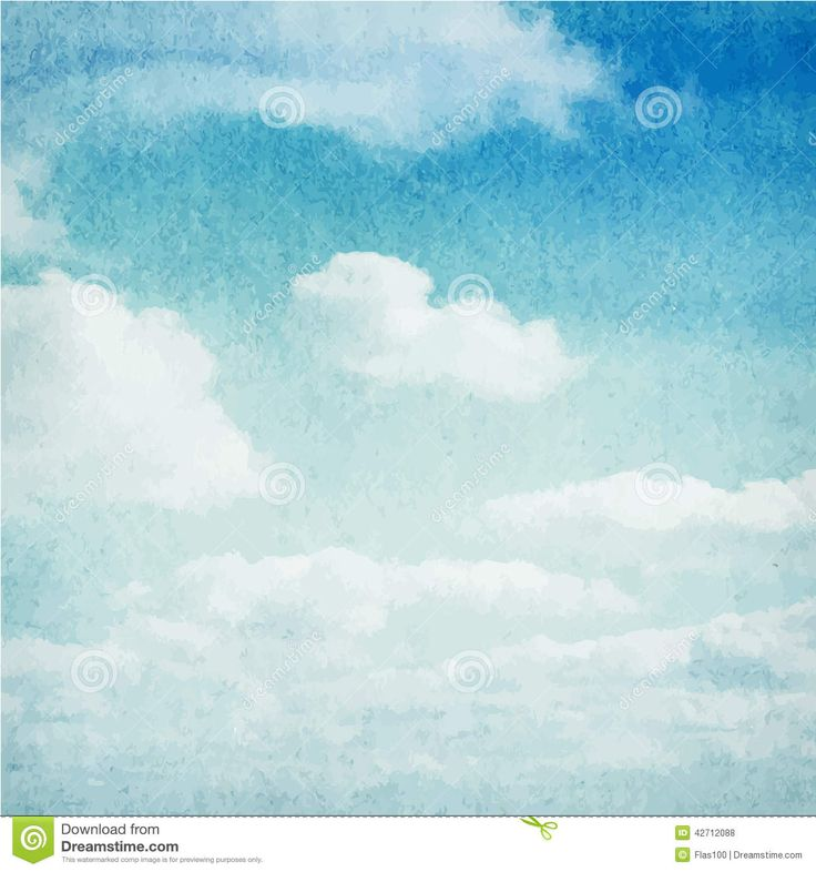 Watercolor Clouds And Sky Background - Download From Over 53 Million High Quality Stock Photos, Images, Vectors. Sign up for FREE today. Image: 42712088