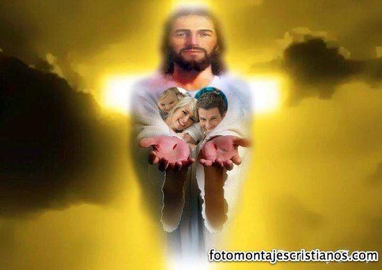 Descargar Fotomontaje Gratis | Fotomontaje cristiano con Jesús dándote fuerzas